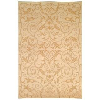 Safavieh Hand-knotted Tibetan Iron Scrolls Ivory Wool/ Silk Rug (9' x 12')