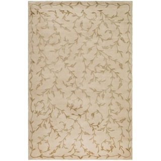 Safavieh Hand-knotted Tibetan Butterscotch Wool/ Silk Rug (9' x 12')