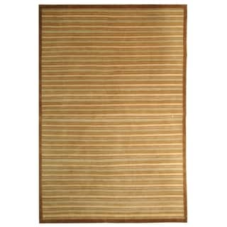 Safavieh Hand-knotted Tibetan Light Brown Wool Rug (6' x 9')