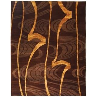 Safavieh Hand-knotted Tibetan Multi Wool/ Silk Rug (9' x 12')