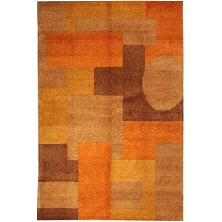 Safavieh Hand-knotted Vegetable Dye Tibetan Multi Wool Geometric Rug (9' x 12')