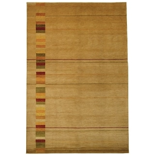 Safavieh Hand-knotted Vegetable Dye Tibetan Beige Wool Rug (9' x 12')