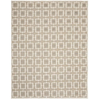 Safavieh Hand-knotted Tibetan Buckwheat/ Antique White Linen Rug (8' x 10')