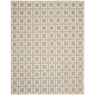 Safavieh Hand-knotted Tibetan Buckwheat/ Antique White Linen Rug (9' x 12')