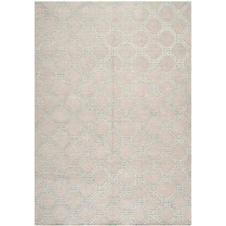 Safavieh Hand-knotted Tibetan Beige/ Light Blue Linen/ Cotton Rug (9' x 12')