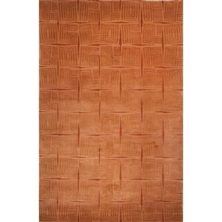 Safavieh Hand-knotted Tibetan Gold/ Rust Wool/ Silk Rug (10' x 14')