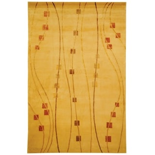 Safavieh Hand-knotted Tibetan Honey Wool/ Silk Contemporary Rug (9' x 12')