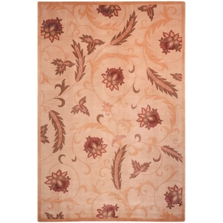 Safavieh Hand-knotted Contemporary Tibetan Beige Wool Rug (8' x 10')