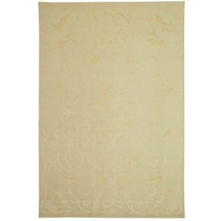 Safavieh Hand-knotted Tibetan Iron Scrolls Pearl Cashmere/ Silk Rug (6' x 9')