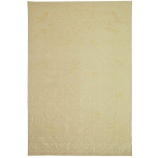Safavieh Hand-knotted Tibetan Iron Scrolls Pearl Cashmere/ Silk Rug (8' x 10')