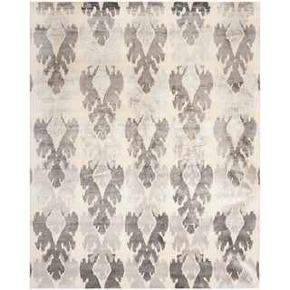 Safavieh Hand-knotted Tibetan Pearl/ Grey Wool/ Viscose Rug (8' x 10')