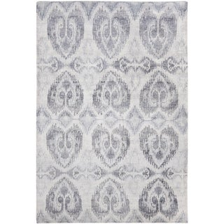 Safavieh Hand-knotted Tibetan Sterling Wool/ Viscose Rug (6' x 9')
