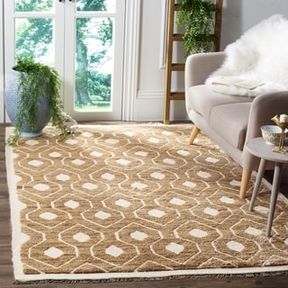Safavieh Hand-knotted Tangier Ivory Wool/ Jute Rug (8' x 10')