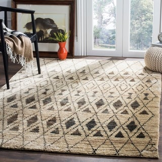 Safavieh Hand-knotted Tangier Ivory/ Black Wool/ Jute Rug (8' x 10')
