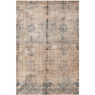 Safavieh Hand-knotted Tibetan Brown Wool Area Rug (6' x 9')