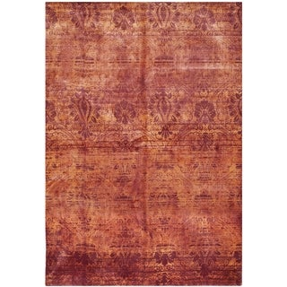 Safavieh Hand-knotted Tibetan Contemporary Red Wool Rug (9' x 12')