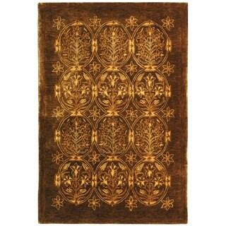 Safavieh Hand-made Taj Mahal Olive Wool Rug (6' x 9')