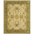 Safavieh Hand-made Taj Mahal Ivory/ Green Wool Rug (9' x 12')