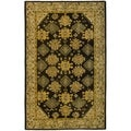 Safavieh Hand-made Taj Mahal Brown/ Ivory Wool Rug (9' x 12')