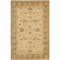 Safavieh Hand-made Taj Mahal Ivory/ Gold Wool Rug (8' x 10')