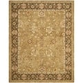 Safavieh Hand-made Taj Mahal Gold/ Chocolate Wool Rug (9' x 12')