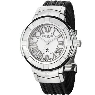 Charriol Women's CE438SB.655.007 'Celtic' White Dial Black Stainless Steel Watch
