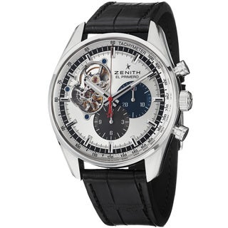 Zenith Men's 'El Primeo Stratos' Chrono Dial Leather Strap Watch