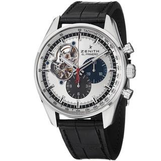 Zenith Men's 03.2040.4061.69C 'El Primeo Stratos' Chrono Dial Leather Strap Watch