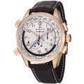 Zenith Men's 'Pilot Doublematic' Silver Dial Rose Gold Alarm Watch