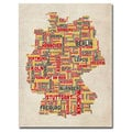 Michael Tompsett 'Germany Text Map II' Canvas Art