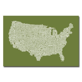 Michael Tompsett 'US City Map VI' Canvas Art