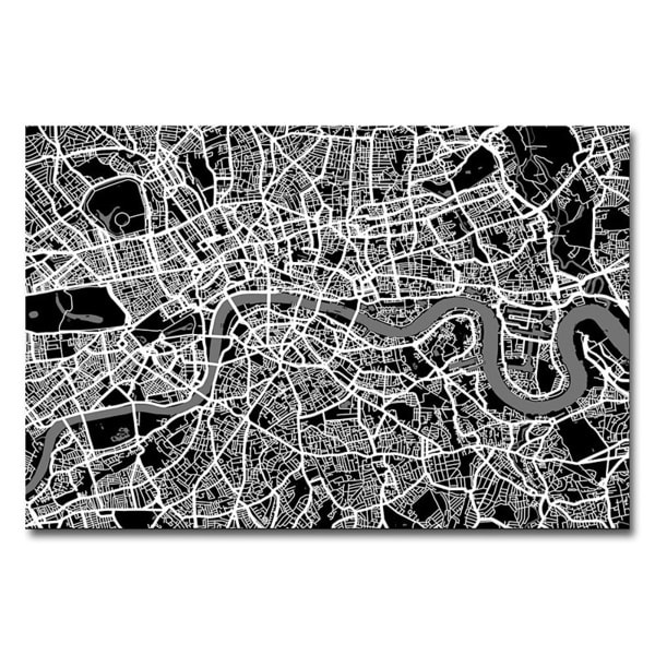 Michael Tompsett 'London Street Map I' Canvas Art