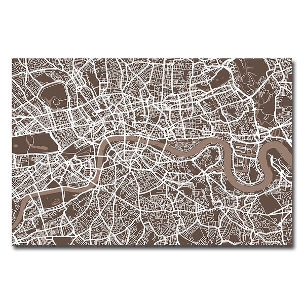 Michael Tompsett 'London Street Map II' Canvas Art