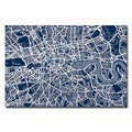 Michael Tompsett 'London Street Map III' Canvas Art