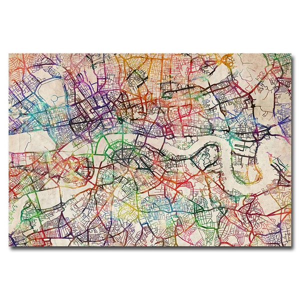 Michael Tompsett 'London Street Map V' Canvas Art