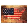 Michael Tompsett 'US Flag Map' Canvas Art
