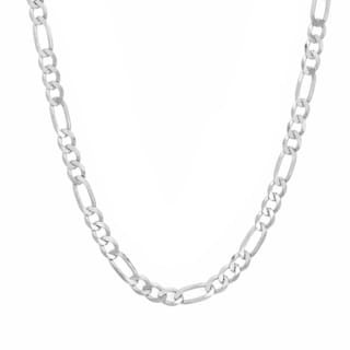 Sterling Essentials Silver 30-inch Figaro Chain