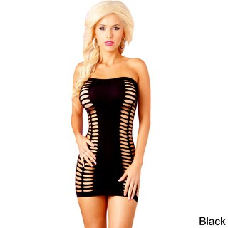 Pink Lipstick Fully Vented Seamless Dress in Black and Peach