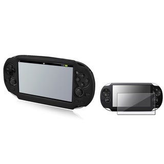 INSTEN Black Case Cover/ Screen Protector for Sony PlayStation Vita