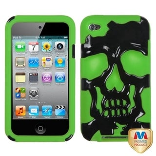 BasAcc Black/ Electric Green Skullcap Case for Apple iPod touch 4