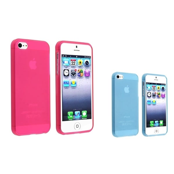 INSTEN TPU Phone Case Cover Set for Apple iPhone 5/ 5S
