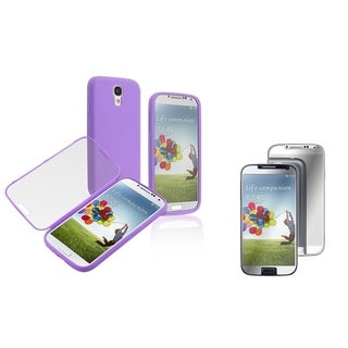 BasAcc Book-Style Case/ LCD Protector for Samsung Galaxy S4/ S IV