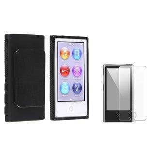 INSTEN Black iPod Case Cover/ Anti-glare Screen Protector Apple iPod Nano 7