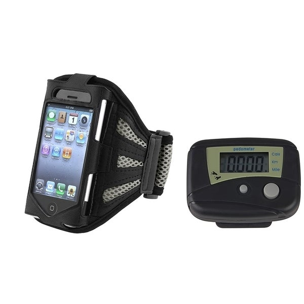 INSTEN Pedometer/ Armband Phone Case Cover for Apple iPhone 1/ 2/ 3G/ 3GS/ 4/ 4S