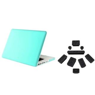 INSTEN Tiffany Blue Laptop Case Cover/ Black Plug Set for Apple MacBook Pro 13-inch