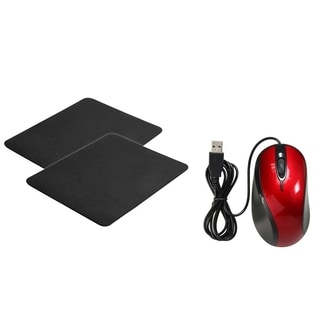 BasAcc Red Mouse/ Black Mouse Pad