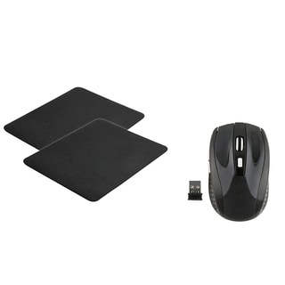 INSTEN Wireless Mouse/ Black Mouse Pad