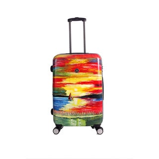 Neocover Sailing Through Sunsets 28-inch Hardside Spinner Upright Suitcase