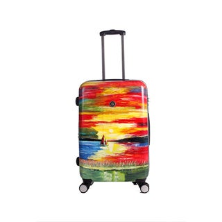 Neocover Sailing Through Sunsets 24-inch Medium Hardside Spinner Upright Suitcase