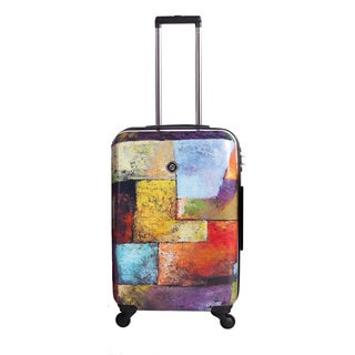 Neocover Old Tyme Squares 24-inch Medium Hardside Spinner Upright Suitcase